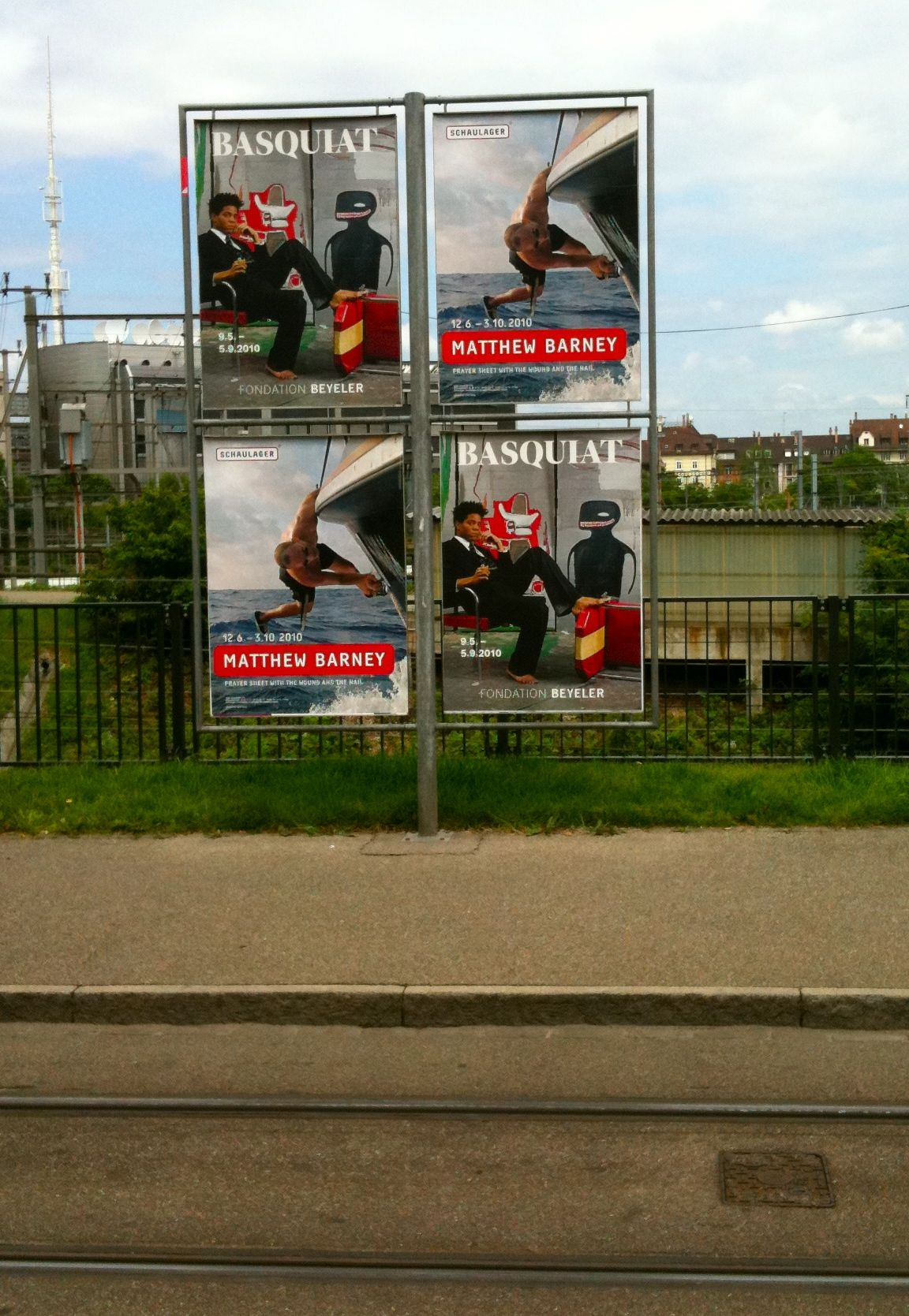 Ads around Basel for the opening