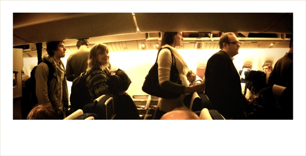 Joe and Colette boarding