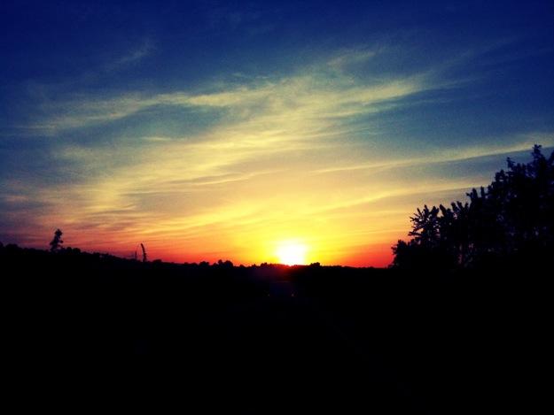 Sunset drive home