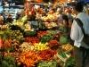 Andrew buying fruit and veggies