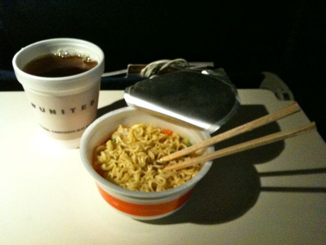 Noodles on the plane