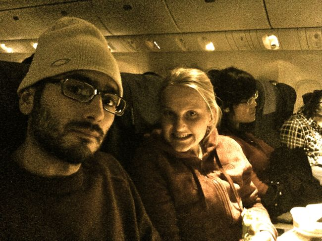 Em and I in flight