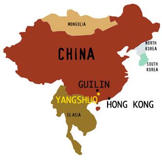 Yangshuo, China map